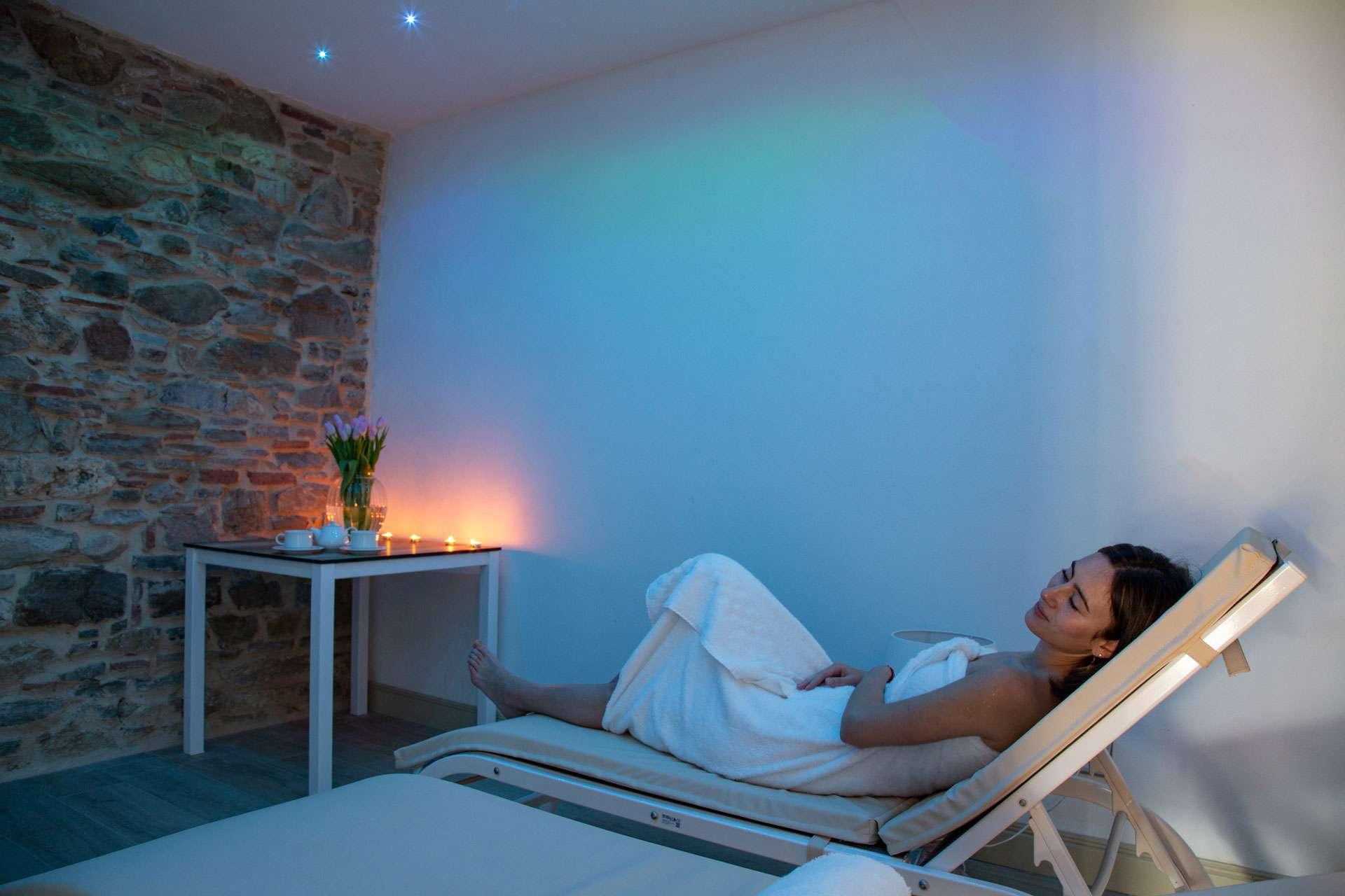 sala relax con cromoterapia Centro benessere & Spa vicino a Firenze