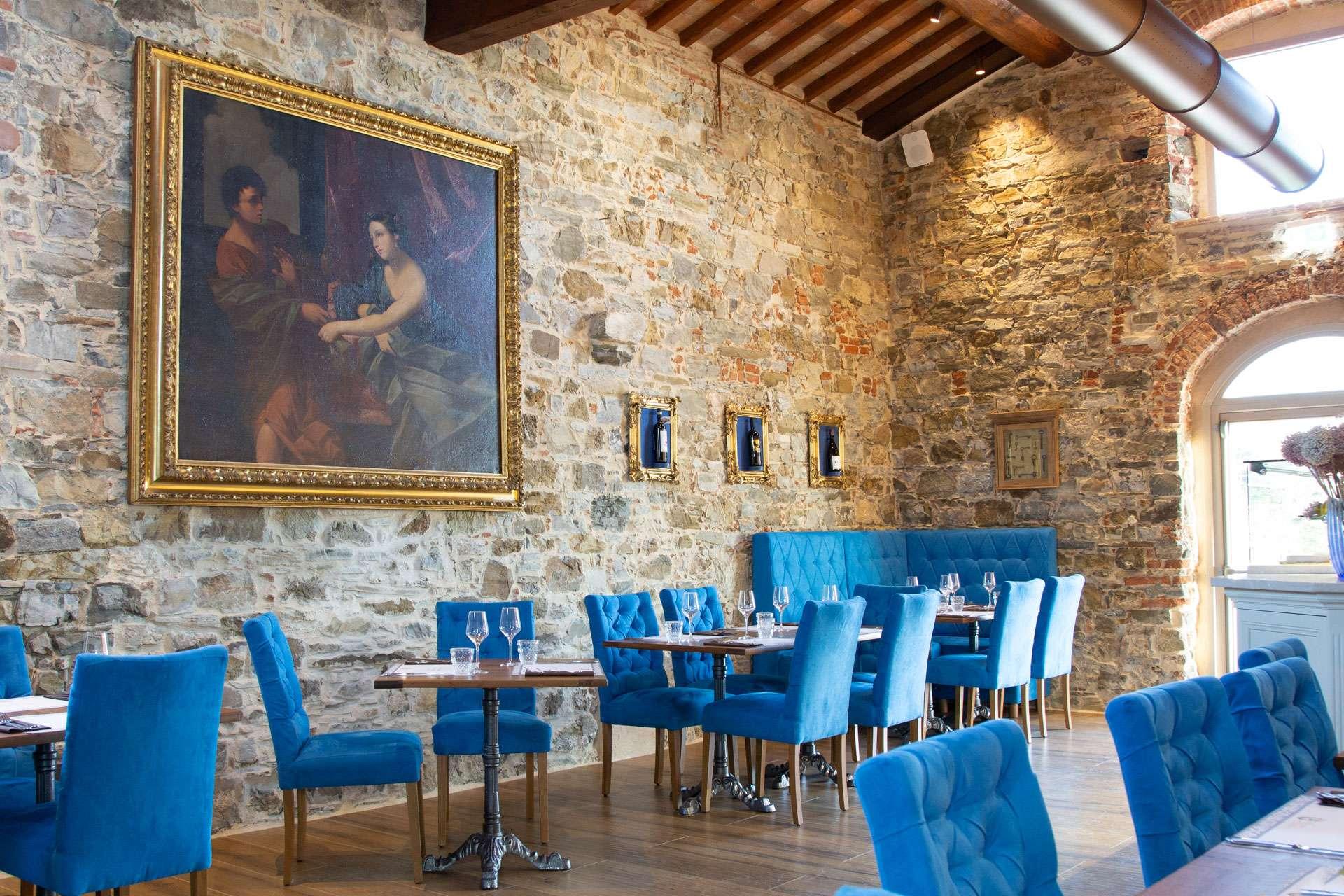 sala de La Fornace de' Medici, ristorante in Mugello